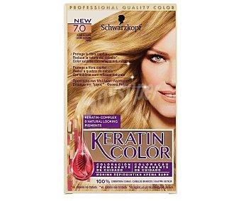 Keratin Color Schwarzkopf Tinte nº 7.0 rubio natural coloracion permanente Caja 1 unidad