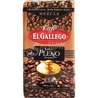 El Gallego Café molido mezcla 50/50 Paquete 250 g