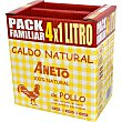 Caldo de pollo 100% natural pack familiar 4 envase 1 l Aneto
