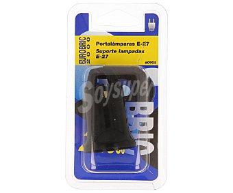 Eurobric 2000 Portalámparas negro casquillo E27(grueso), 60W máximo 2000