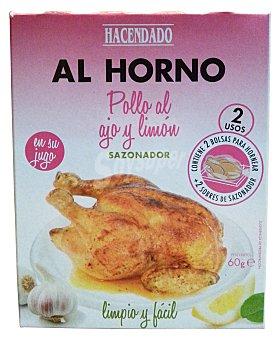 Hacendado Bolsa para asar pollo al ajo y limon Caja 2 u