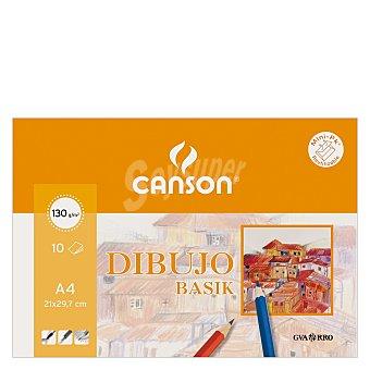 Canson Cuaderno Dibujo Minipack Basik A4 Liso 10 ud