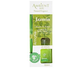 AMBIENTAIR Difusor de varillas de ratán Armonía, con perfume olor a jazmín 100 mililitros