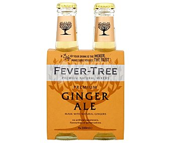 Fever Tree Ginger Ale tónica Premium  Pack 4 x 20 cl