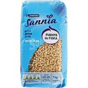 Eroski Sannia Arroz integral Paquete 1 kg