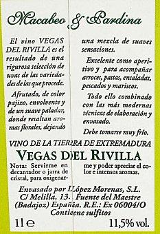 Vegas del Rivilla Vino Blanco Brik 1 Litro