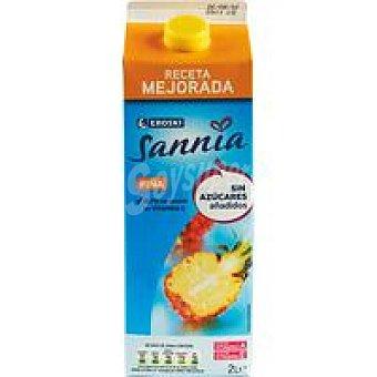 Eroski Sannia Néctar de piña sin azúcar Brik 2 litros