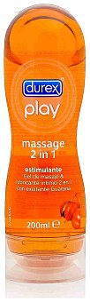 DUREX PLAY Lubricante Massage 2 en 1 Stimulating envase 200 ml Envase 200 ml