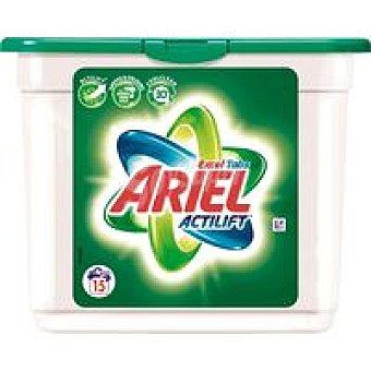 Ariel Detergente líquido cápsulas Caja 15 dosis