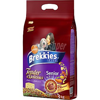 Brekkies Affinity Tender&Deliciuos con buey para perros senior de + 7 años  Bolsa de 3 kg