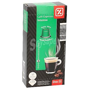 DIA Café expresso intenso Caja 10 capsulas