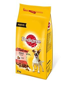 Pedigree Comida de buey para perros de raza pequeña Paquete de 2 kg