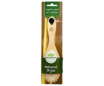 Becasan Cepillo para cabello, con púas flexibles de madera Beauty