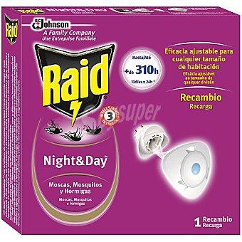 Raid Insecticida electrico Night & Day mosca, mosquito y hormigas 1 ud