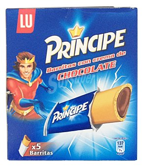 Príncipe Barritas rellenas con crema de chocolate  Pack de 5x130g