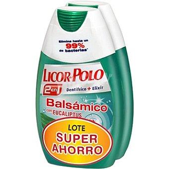 Licor del polo Dentífrico con elixir 2 en 1 balsámico con Eucaliptus lote súper ahorro Pack 2 tubo 75 ml