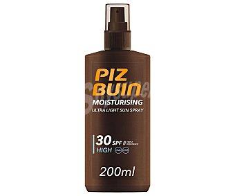 Piz buin Protector solar en spray con textura ultra ligera e hidratante con FPS 30 (alto) 200 ml