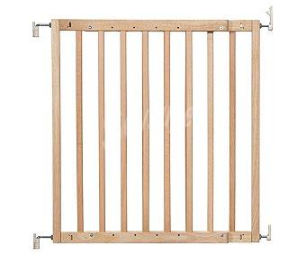 Badabulle Barrera puerta extensible, color madera natural, badabulle