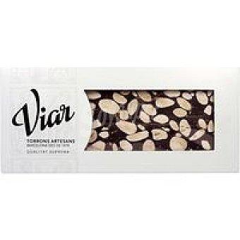 VIAR Turrón de chocolate con almendras Caja 300 g