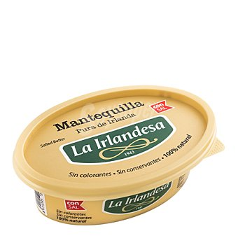 La Irlandesa Mantequilla c/sal Tarrina 220 grs