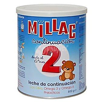 Millac 2 Leche infantil de continuación desde 6 meses en polvo sin aceite de palma 800 G 800 g