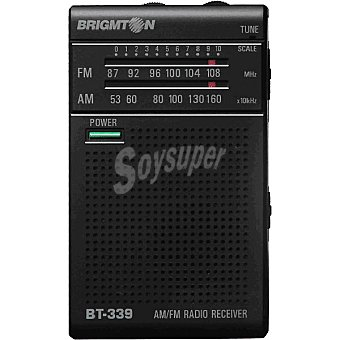 BRIGMTON BT-339 Radio am/fm analógica de bolsillo en color negro