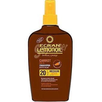 Ecran Sun Lemonoil Broncea y protege aceite protector zanahoria FP-20 Spray 200 ml