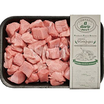 Carne magra troceada/ragout para guisar de ternera blanca peso aproximado Bandeja 500 g