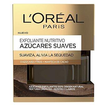 L'Oréal Exfoliante nutritivo azúcares suaves Suaviza, alivia la sequedad 50 ml