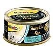 Shiny CAT filet comida húmeda para gatos filetes de pollo y atún Envase 70 g GimCat