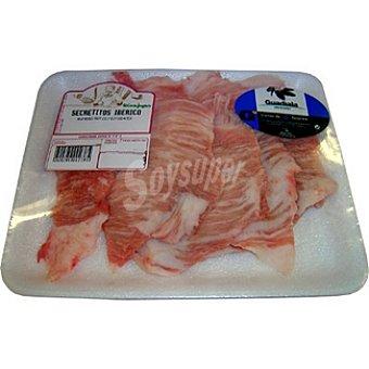 Guadiala Secretitos de cerdo ibérico frescos peso aproximado Bandeja 400 g