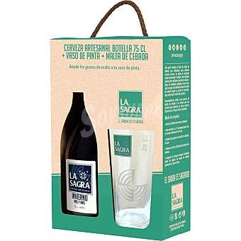 La Sagra Winter Ale cerveza tostada artesana castellana + Copa + Malta de Cebada botella 75 cl