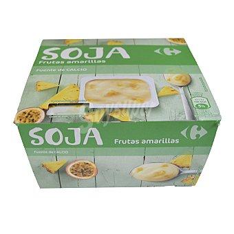 Carrefour Yogur Soja frutos amar. Pack de 4x125 g