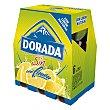 Cerveza sin alcohol con limón natural Pack 6 botellas 25 cl Dorada