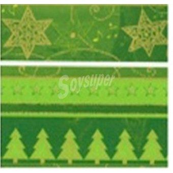 PAP STAR servilletas Tress and Stars verde 3 capas 25x25 cm  paquete 20 unidades