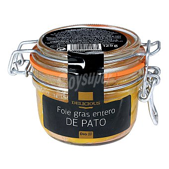DIA DELICIOUS Foie gras entero pato tarro 125 gr Tarro 125 gr