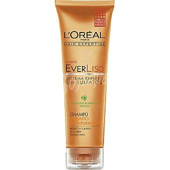 Solar Expertise L'Oréal Paris Champú everliso Alisado & Hidratación con extractos botánicos y girasol para cabellos encrespados y agredidos Tubo 250 ml