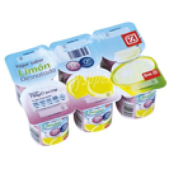 DIA Yogur limón desnatado Pack 6 unidades 125 g