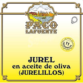 Paco lafuente Jurel en aceite de oliva (jurelillos) Lata 84 g neto escurrido