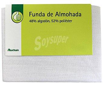 Productos Económicos Alcampo Funda de almohada, color blanco, 90 centímetros 1 Unidad
