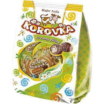 KOROVKA Wafer rellenos de crema Paquete 250 g