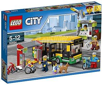 LEGO City Juego de construcciones con 337 piezas Estación de autobuses, City 60154 lego
