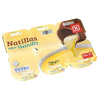 DIA Natillas vainilla Pack 6 unidades 125 g