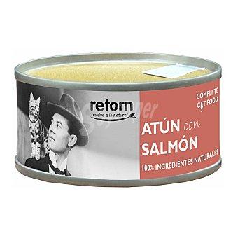 Retorn Comida húmeda para gatos adultos atún con salmón 80 gr