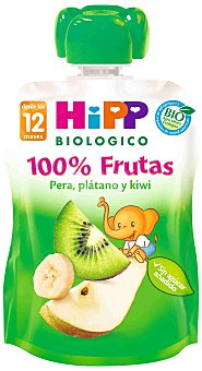 HiPP Biológico Hipp Bolsita Kiwi, Pera y Plátano 90 g