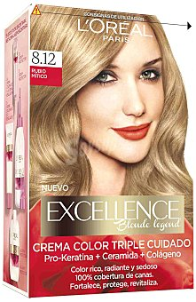 Excellence L'Oréal Paris Tinte creme 8.12 Rubio Mítico 1 ud