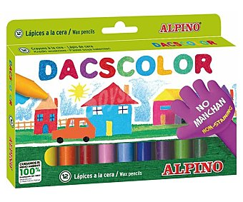 Alpino 12 ceras blandas para colorear dacscolor dacscolor