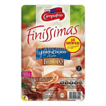 Campofrío Jamón cocido braseado finíssimas Blister 115 gr