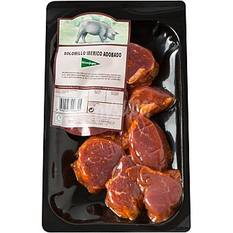 El Corte Inglés Solomillo de cerdo ibérico adobado en filetes peso aproximado Bandeja 350 g