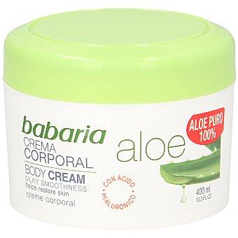 Babaria Crema corporal de aloe vera Tarro 400 ml